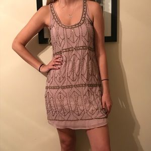 Fossil beaded dress, mauve size S